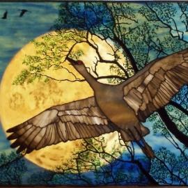 Sandhill Cranes at Night